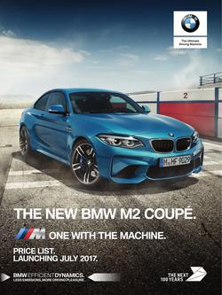 BMW M2 Coupe Price List August 2017