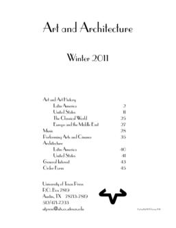 Art and Architecture February 2011