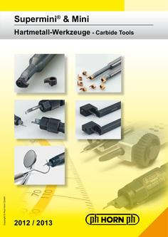 Supermini® & Mini Carbide Grooving Tools 2012/2013