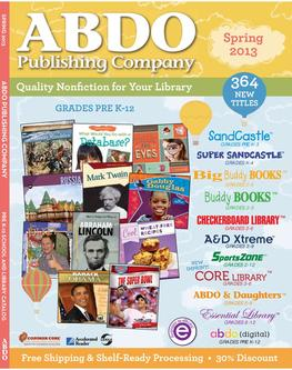 2013 ABDO Publishing Company Books