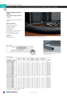 Metallic Conduits with Plastic Coating and Fittings 2011/2012