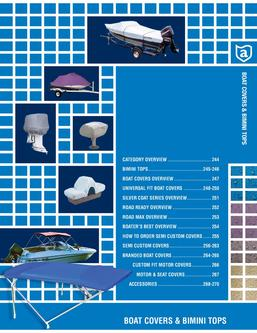 2013 Boat Covers & Bimini Tops