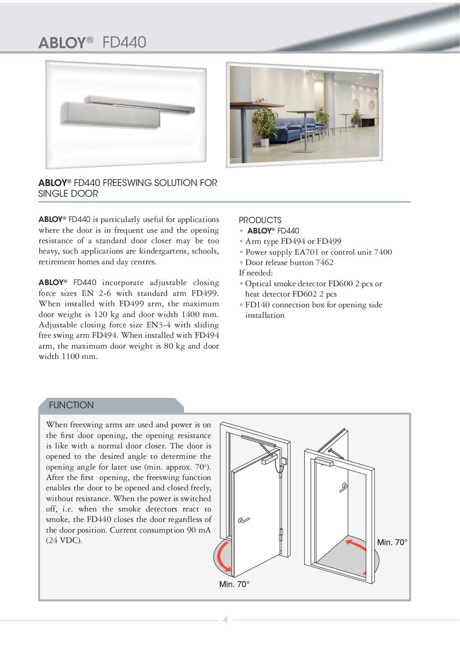 Abloy Fire Door Closing System 2010 By Luku Expert A Wiring Diagrams P 1 16