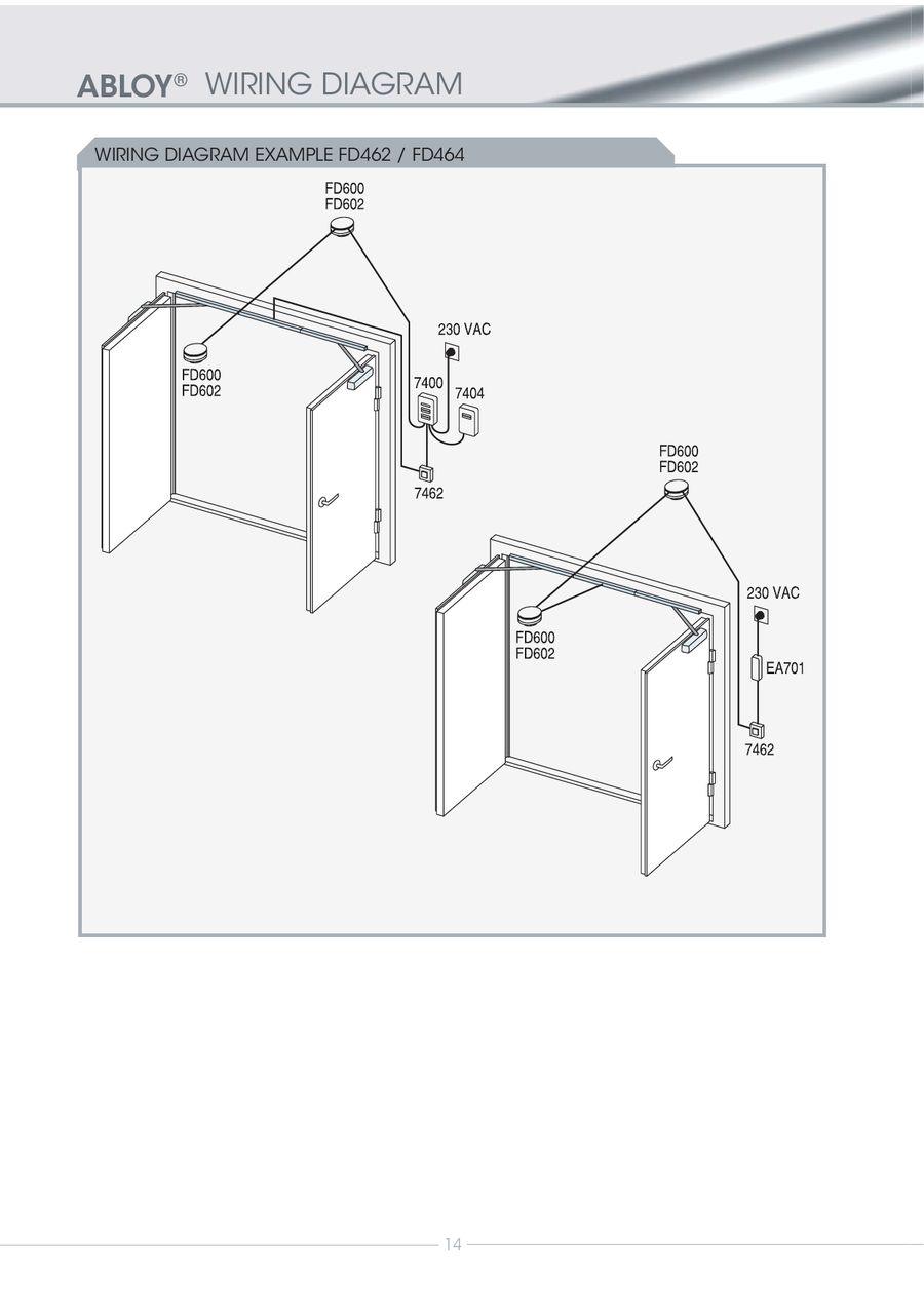 Page 15 Of Abloy Fire Door Closing System 2010 A Wiring Diagrams P 16