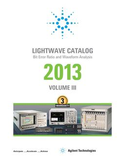 Bit Error Ratio and Waveform Analysis 2013