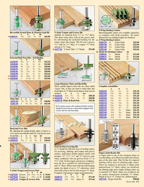 wood working catalog