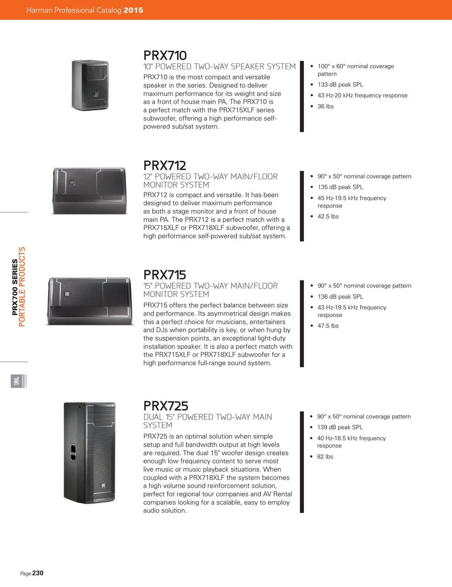 Full Line Catalog 2015 By Jbl Professional Speaker Besides Srx Subwoofer Speakers On Wiring With P 1 88