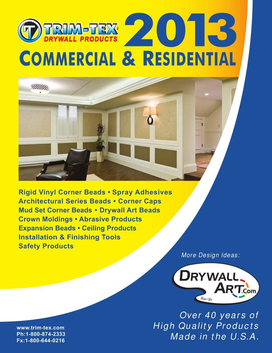Drywall Products 2013 by Trim-Tex