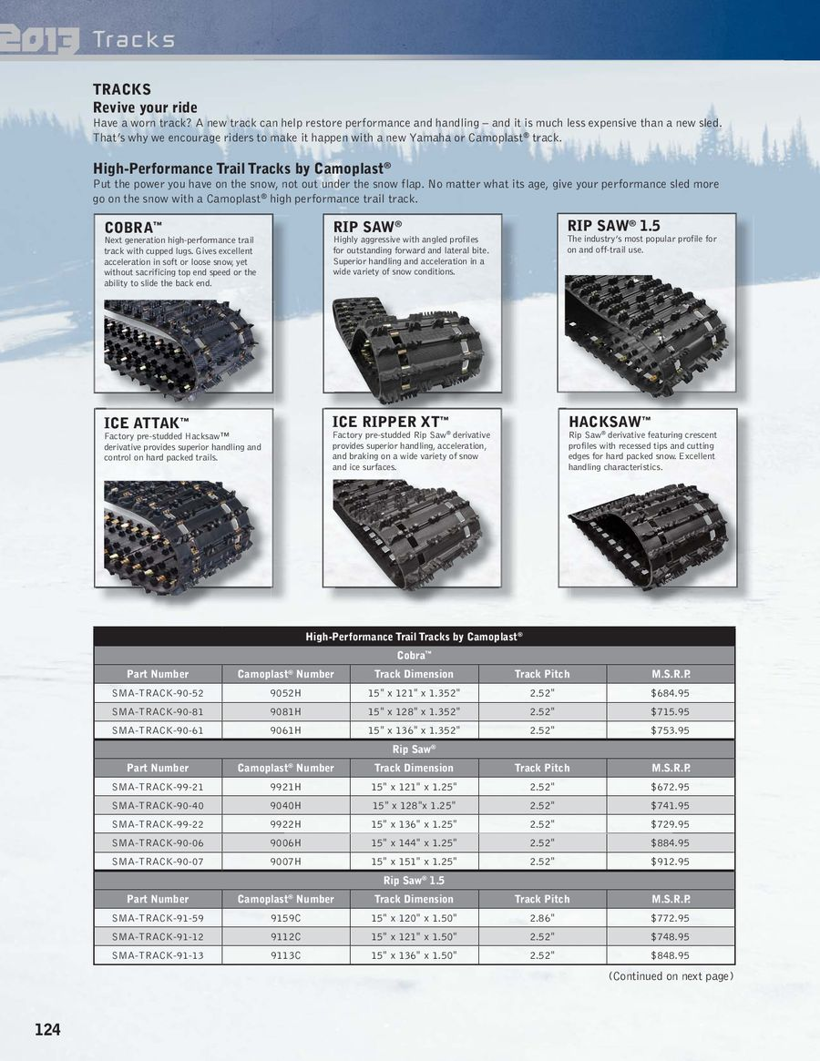Page 129 of 2013 Snowmobile Accessories & Apparel