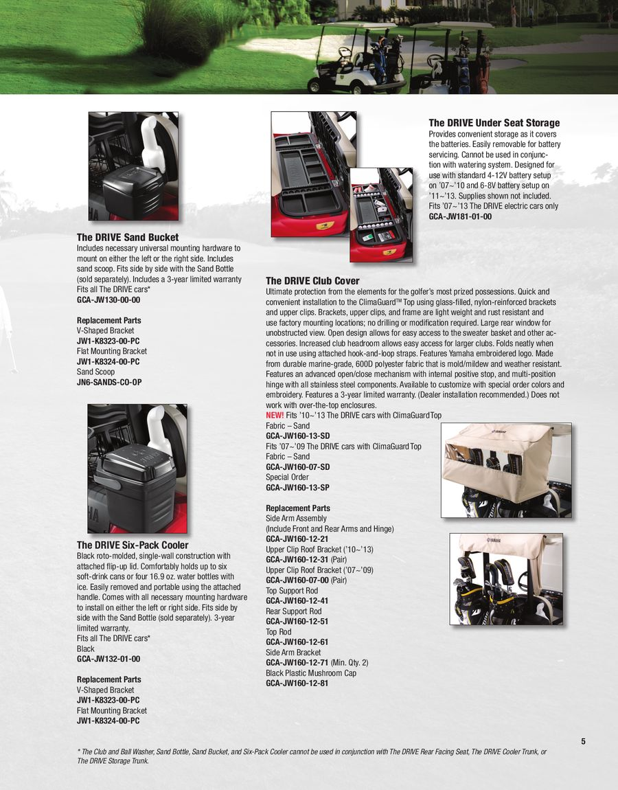 Page 7 of 2013 Golf Car Accessories & Apparel Catalog