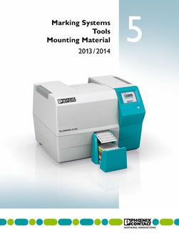 Marking systems, tools and mounting material 2013/2014