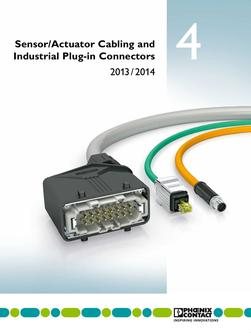 Sensor/actuator cabling and industry plug connectors 2013/2014