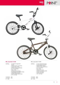 BMX, kids bikes, mini-scooter, unicycles 2012
