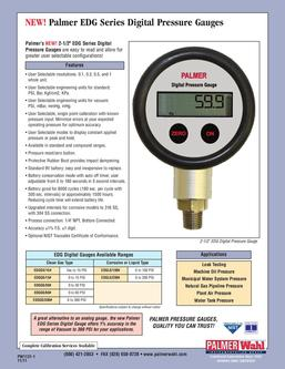EDG Series Digital Pressure Gauges