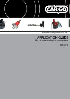 Application Guide Electrical Parts and Engine management 2011 2012