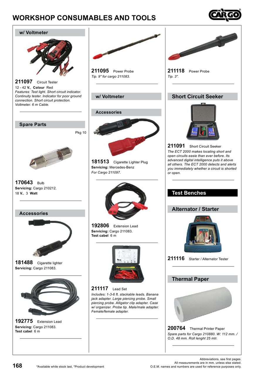Page 169 Of Workshop Consumables And Tools 2012 Short Circuit Detector Ect2000 P 241