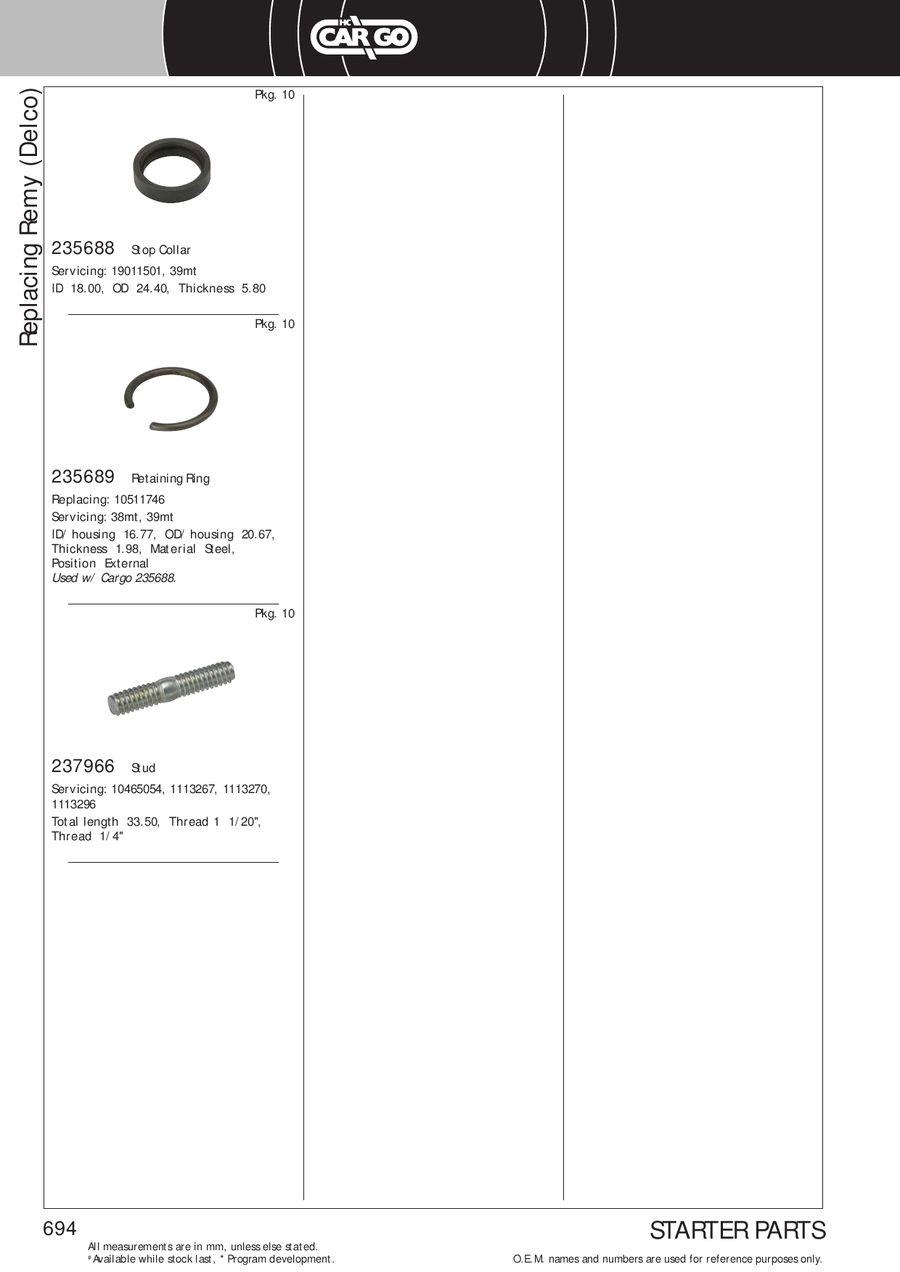 Starter Motor HC-Cargo 113476 12 Volt 24 Z/ähne 191-1798 191-2312