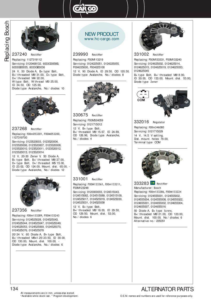 Page 137 of Alternator Generator Components 2013/2014