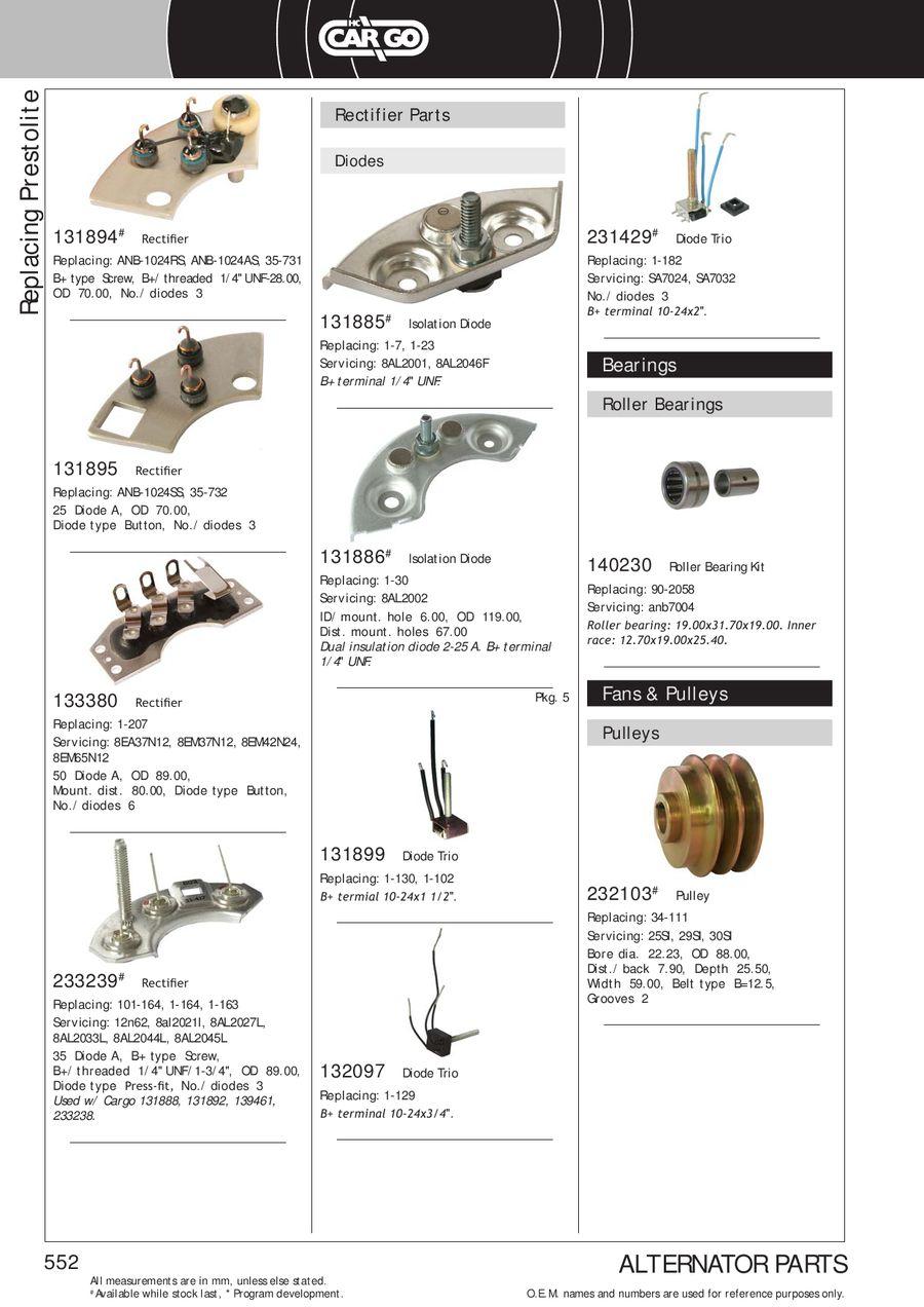 Page 554 of Alternator Generator Components 2013/2014
