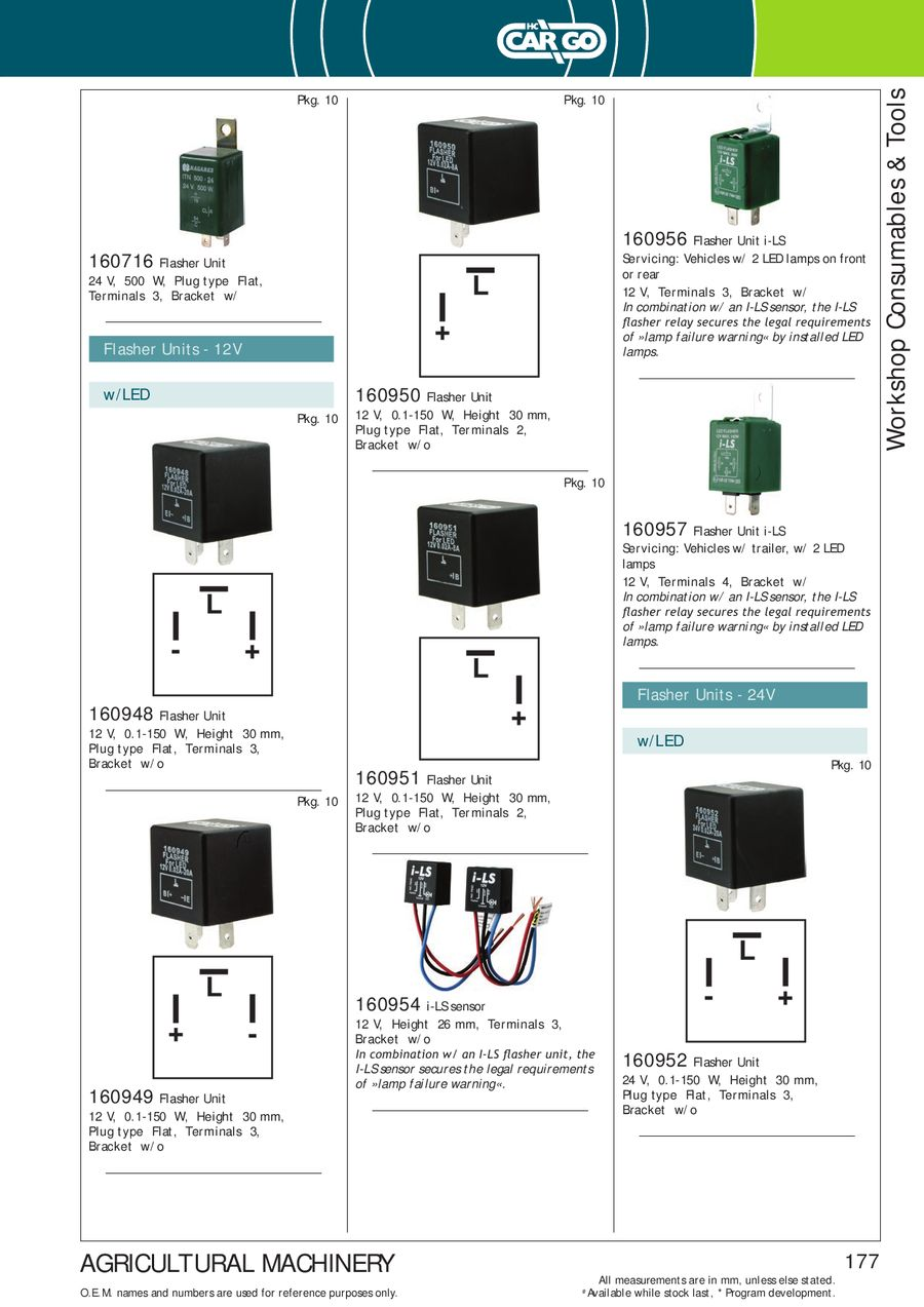 Page 179 Of Agricultural Machinery 2013 2014 3 Terminal Flasher Relay P 433