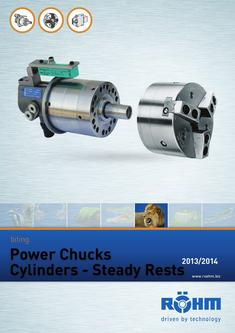 Power Chucks - Cylinders - Steady rests 2013