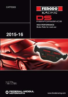 High Performance Brake Pads for road use 2015-2016