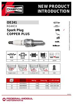 24-02-2015  Spark plug RG4HCX replacement of RG4HC