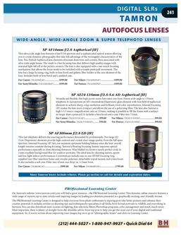 Digital SLR's and Lenses - Part 3 2007