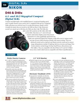 Digital SLR's and Lenses - Part 2 2007