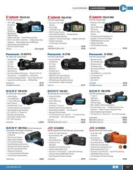 Camcorders Summer 2017