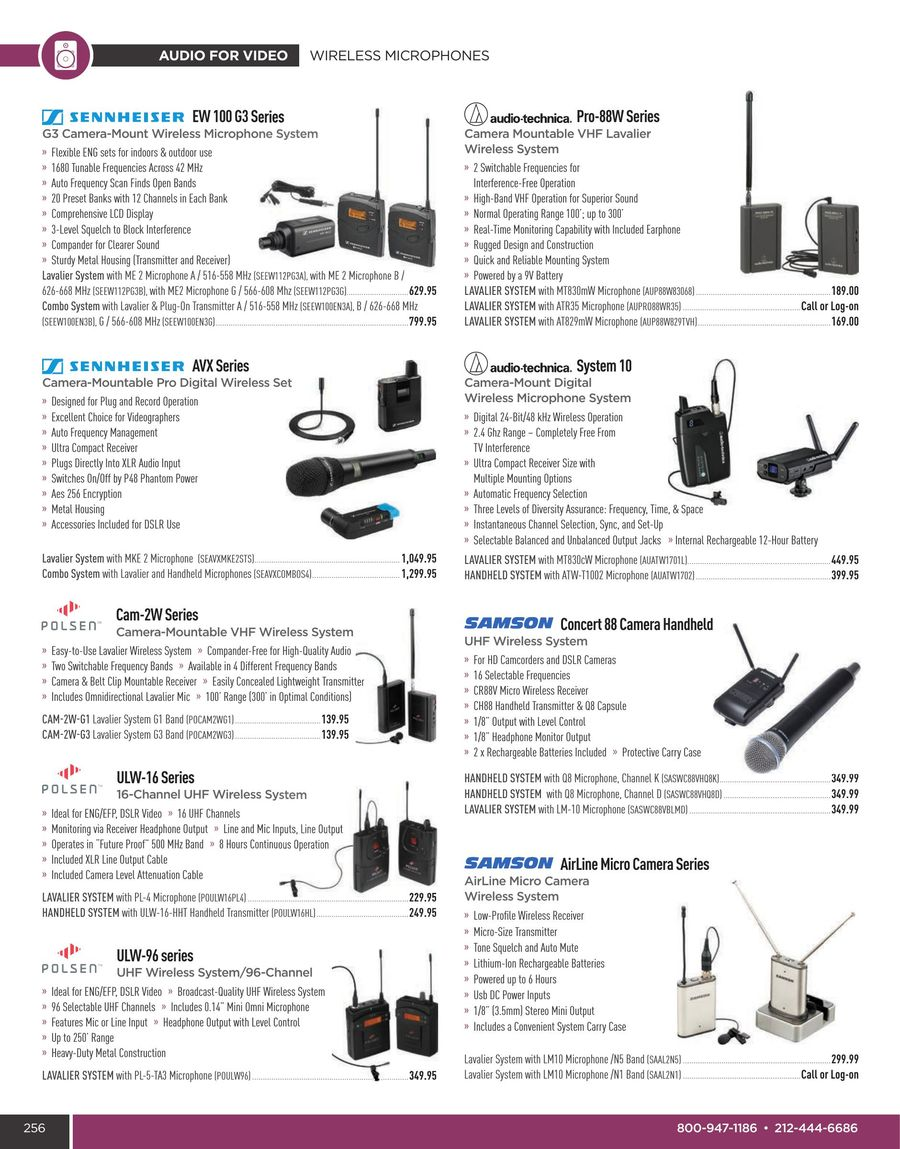Audio For Video Summer 2016 By B H Foto Electronics Uhf Transmitter 5pin Input Jack Wiring Microphone
