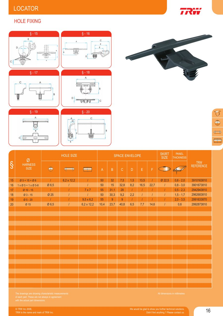 Page 18 Of Wire Harness Fasteners Space P 72