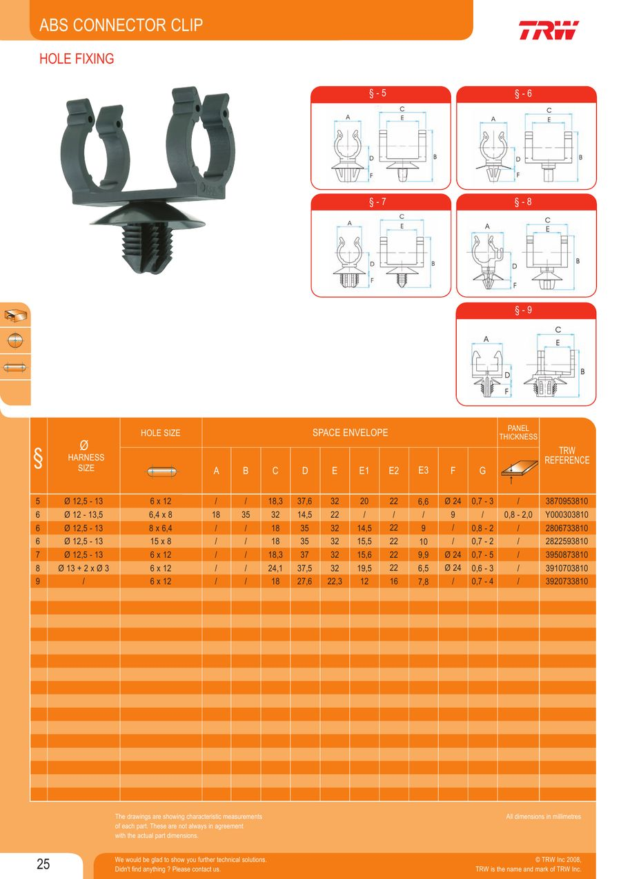 page 30 of wire harness fasteners rh who sells it com Wire Harness Clips Wire Harness Fixtures