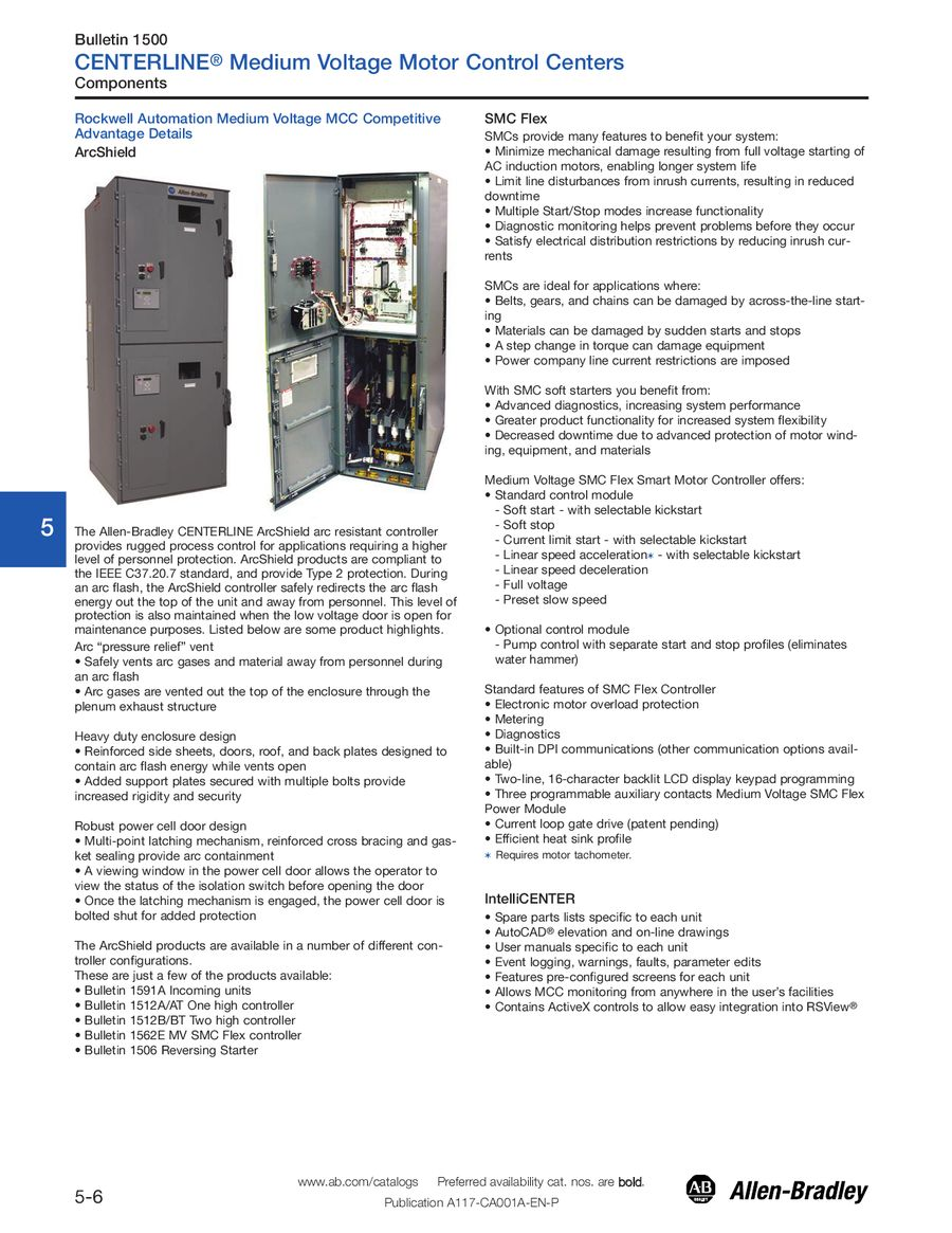 Motor Control Centers By Rockwell Automation And Parts Optional P 1 6