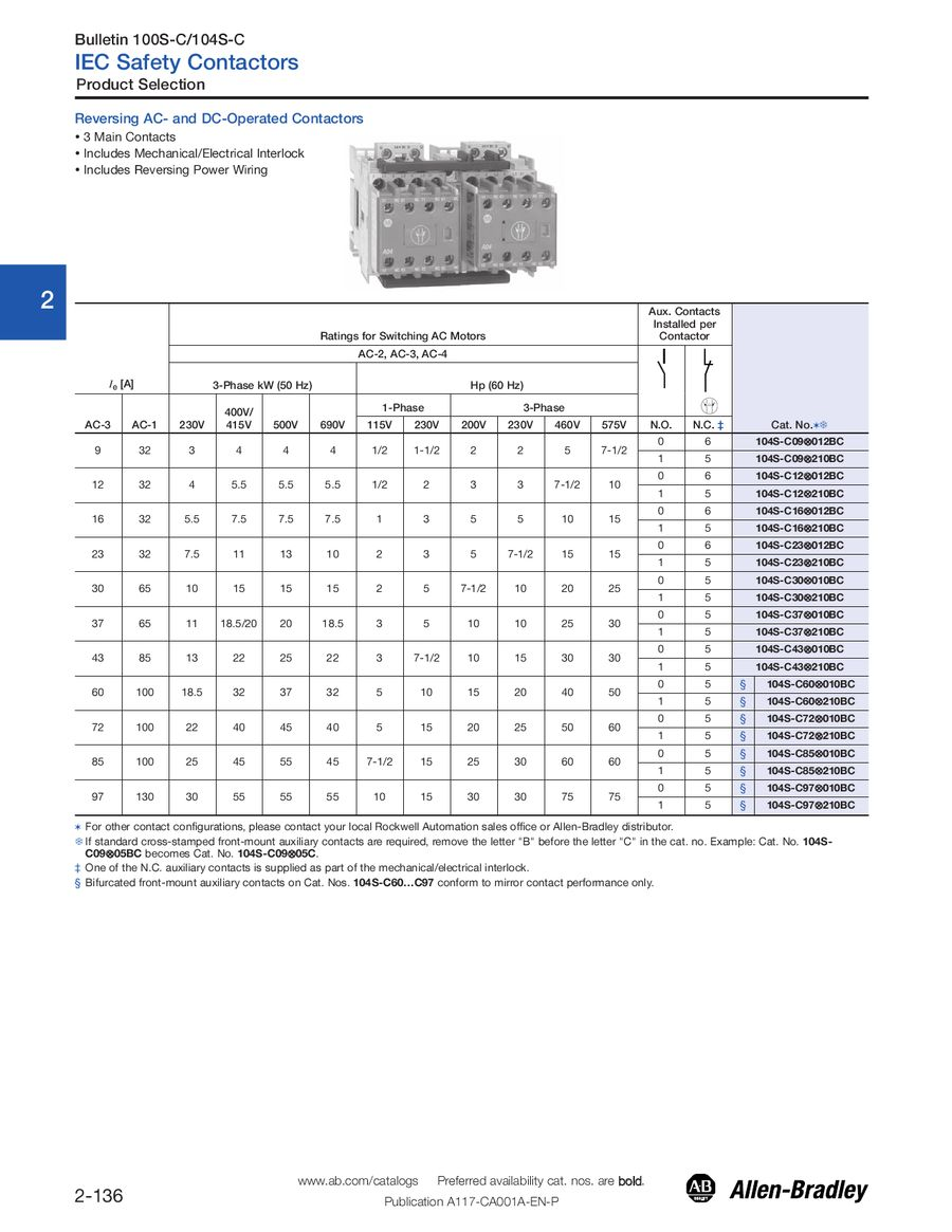 Page 136 Of Iec Motor Control Starter Wiring Diagram P 500