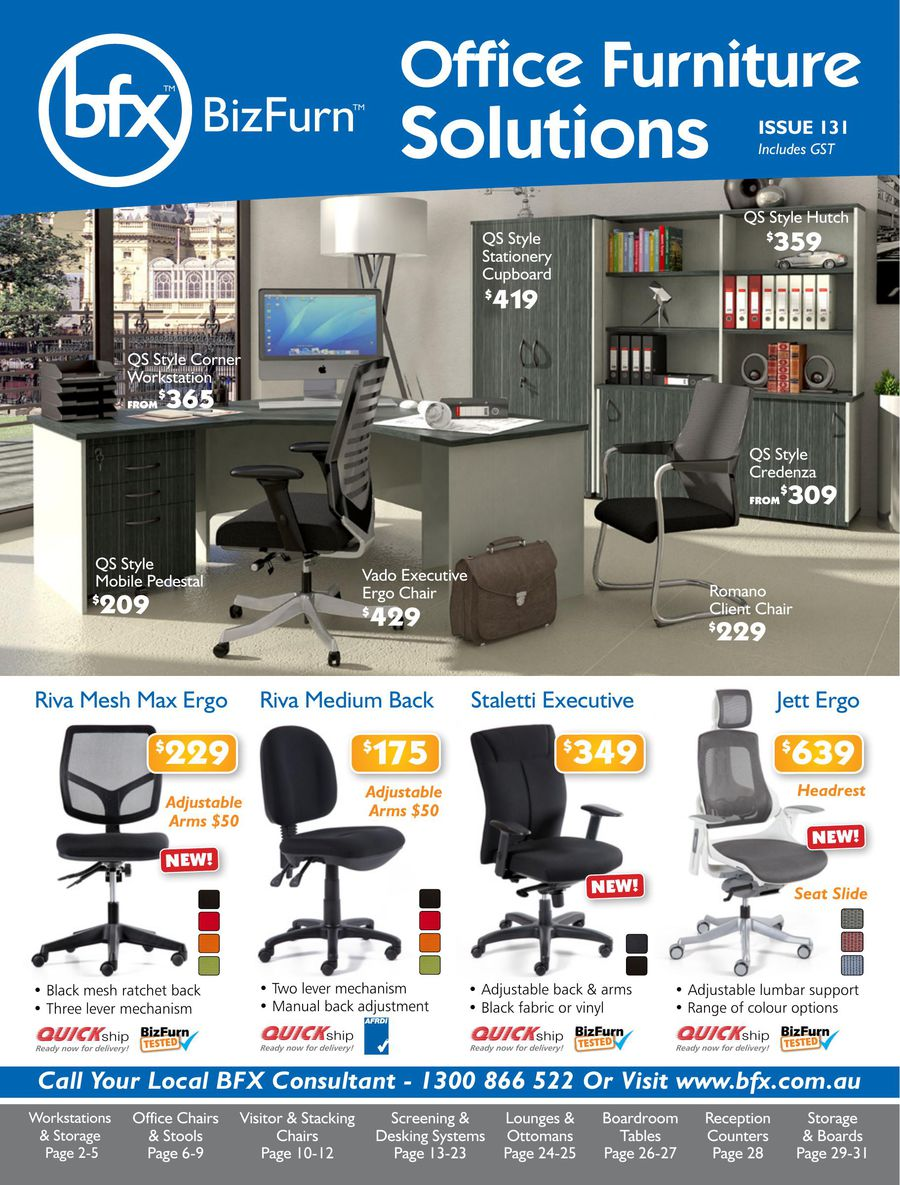 Office Furniture Solutions 2015 By Bizfurn Express Australia