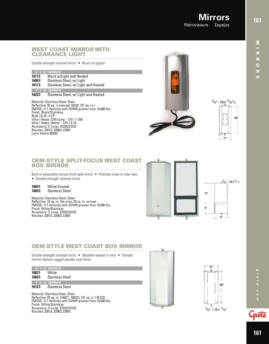 Mirrors 2012 By Grote Industries West Coast Heated Mirror Wiring Diagrams
