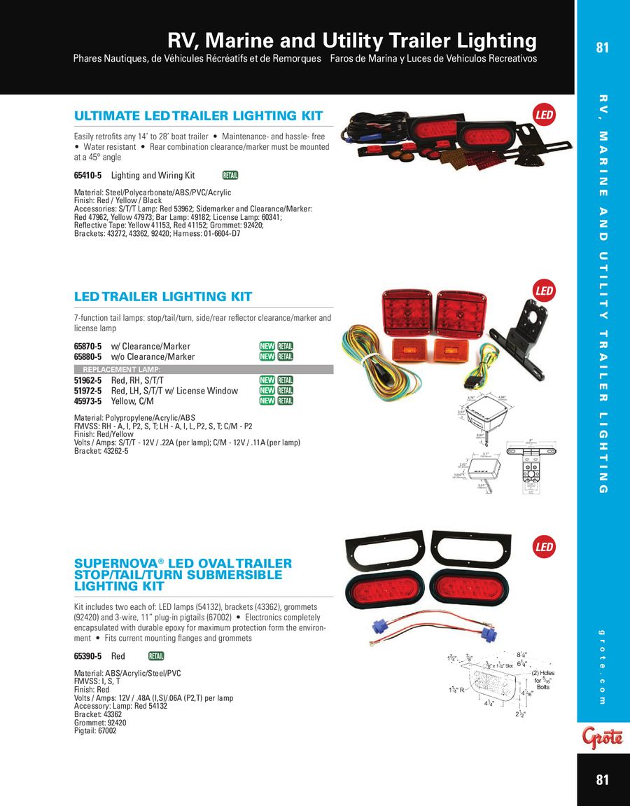 RV, Marine and Utility Trailer Lighting 2012 by Grote Industries