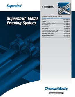 Superstrut Metal Framing System 2015