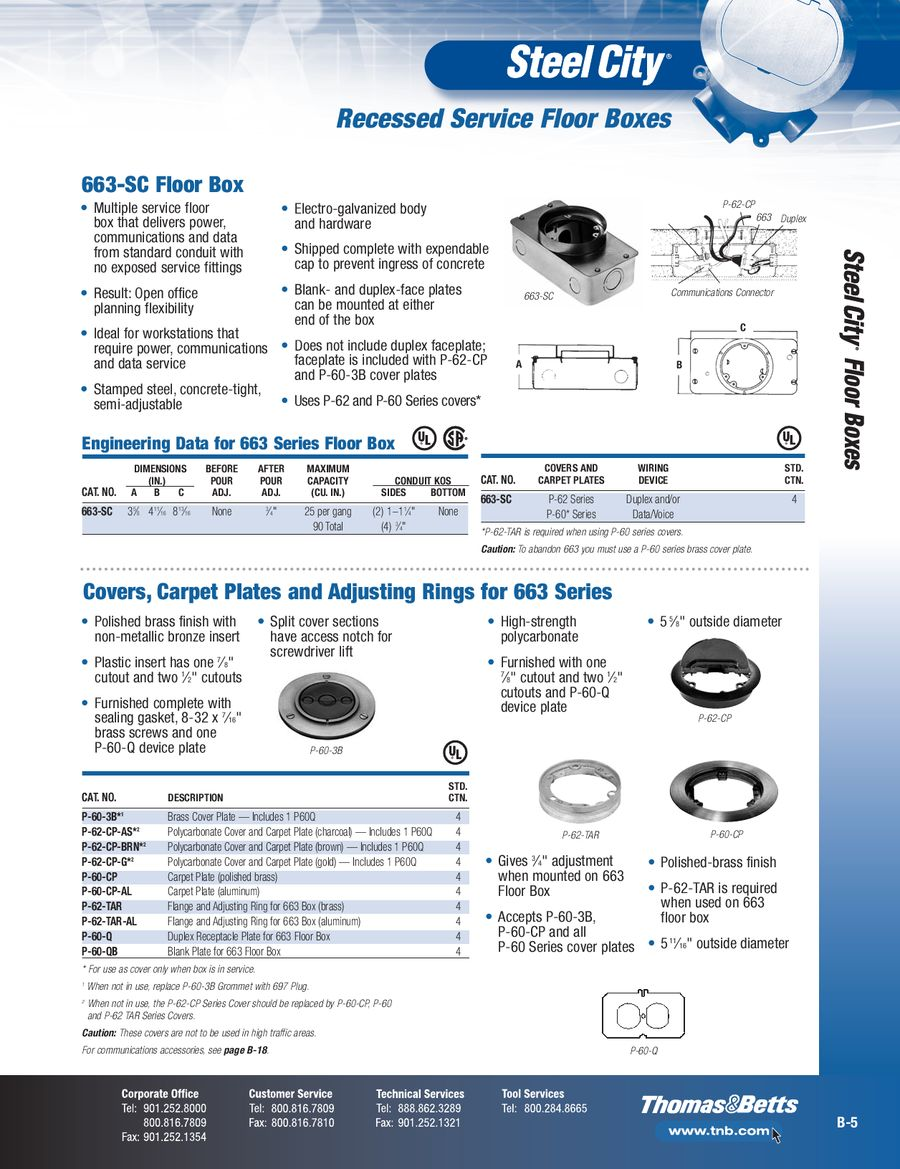 page 47 of steel city & carlon floor boxes