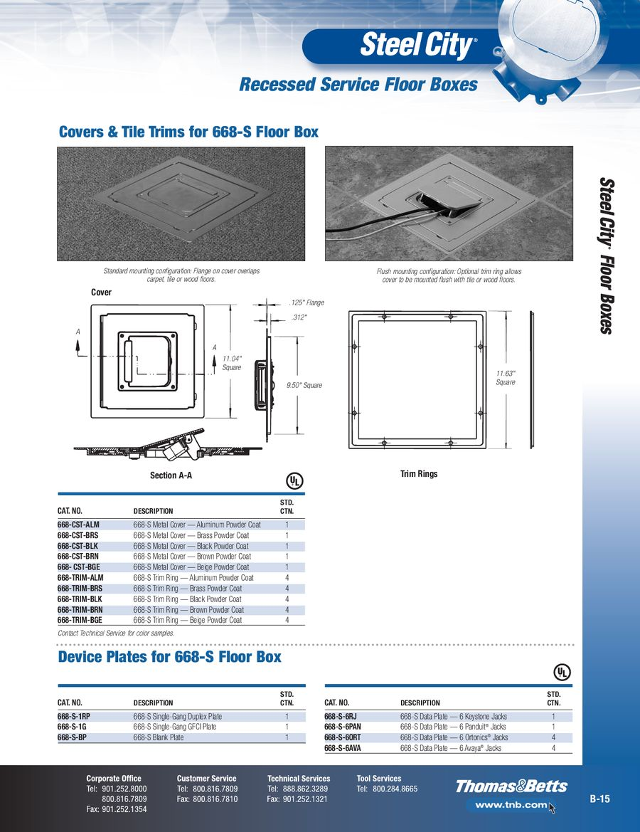Page 13 of Steel City & Carlon Floor Boxes