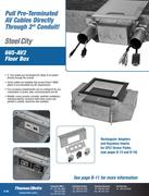 Steel City Amp Carlon Floor Boxes By Thomas Amp Betts