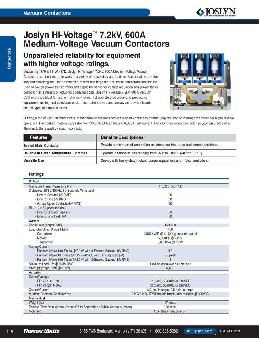 Page 109 of Joslyn Hi-Voltage Selection Guide