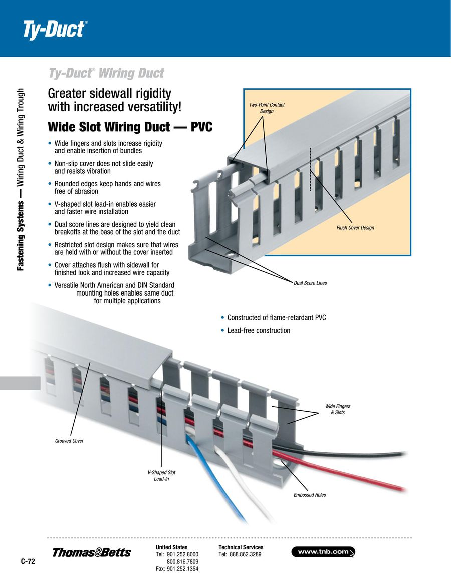 Wiring Duct & Wiring Trough 2015 by Thomas & Betts
