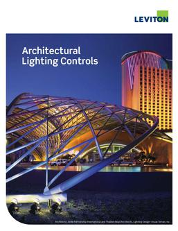 Commercial Architectural Lighting Control Products 2015