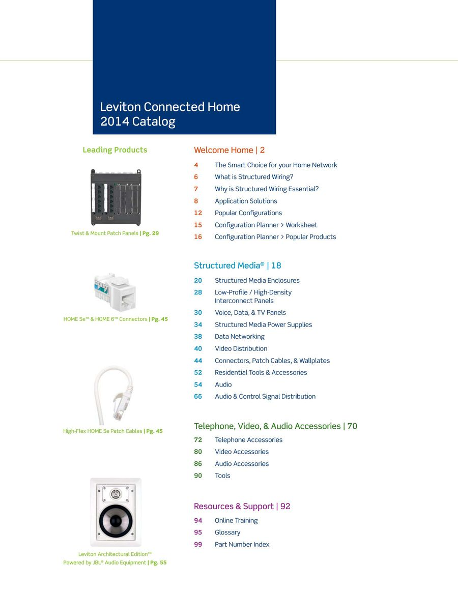 Connected Home Catalog 2014 By Leviton Manufacturing Structured Wiring Enclosure Accessories