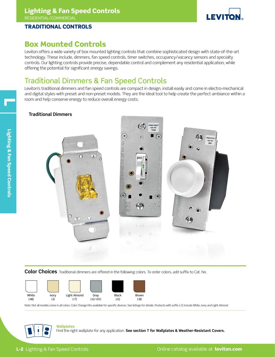 Page 40 of L-300 Lighting and Fan Speed Controls 2015