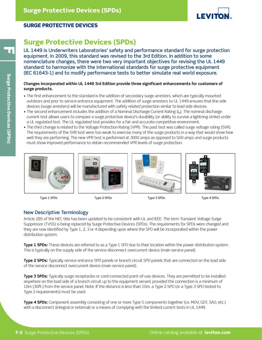 L-300 Surge Protective Devices 2015 by Leviton Manufacturing