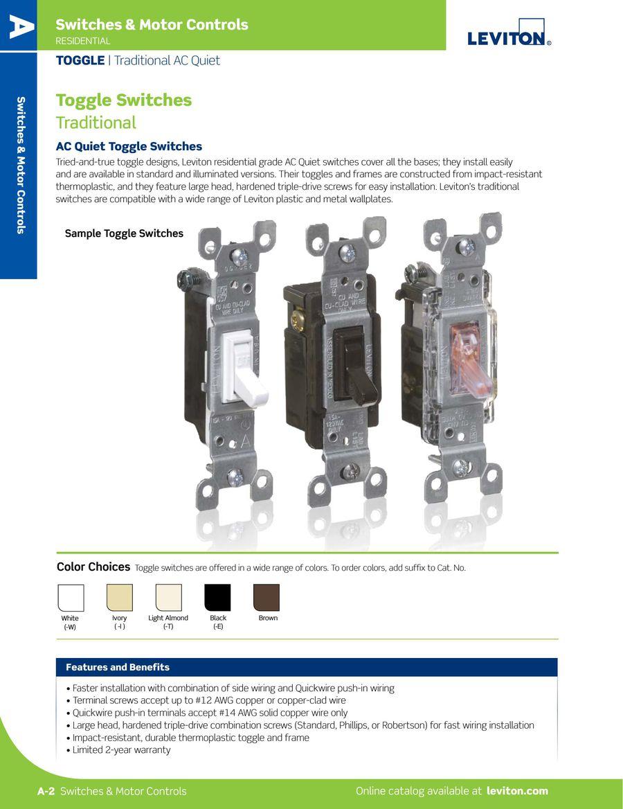 Decora Light Almond 15a Dual Rocker Combination Switch Pushin Wiring
