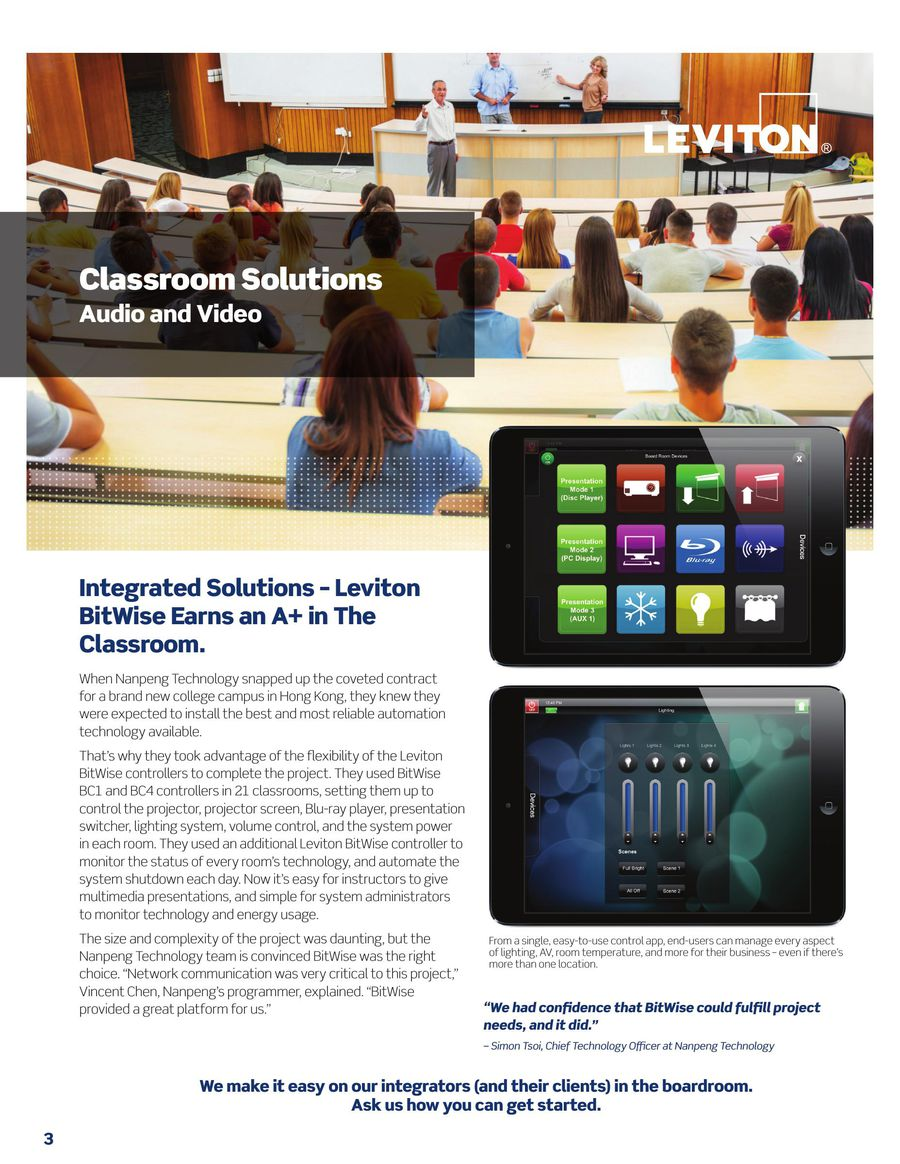 BitWise Brochure 2015 by Leviton Manufacturing